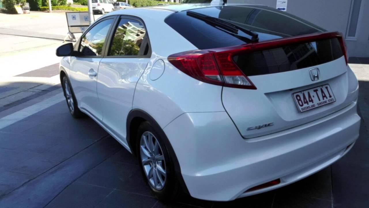 2013 Honda Civic 9th Gen MY13 VTi S White 5 Speed Sports Automatic Hatchback