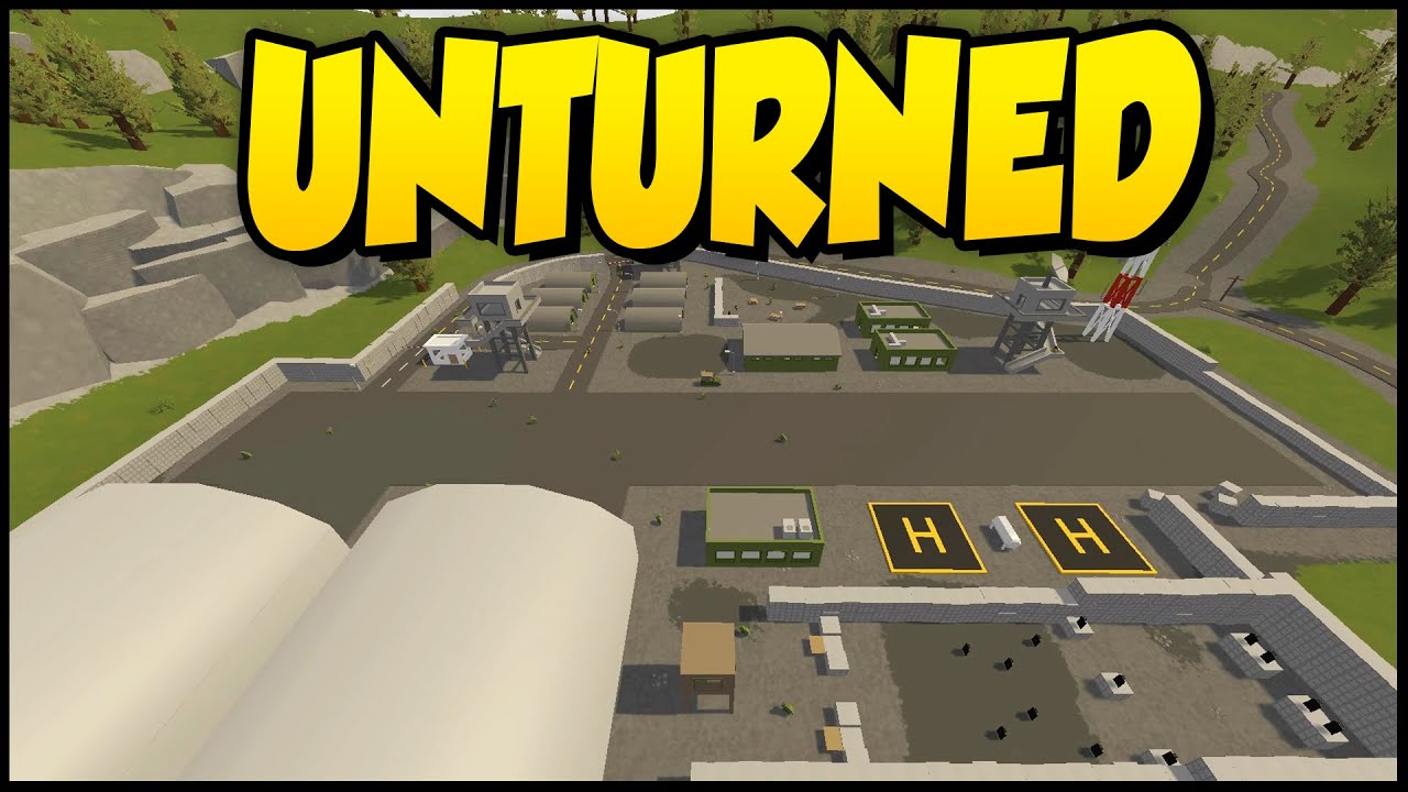 Unturned Russia Map VOLK MILITARY BASE Unturned Gameplay - Germany map military bases