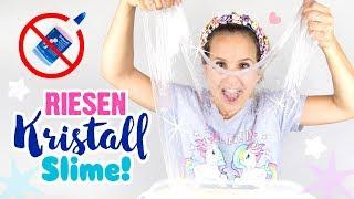 RIESEN Kristall Slime OHNE KLEBER 😱!! DIY Schleim selber machen 200 Gesichtsmasken ❤ Deutsch DIY