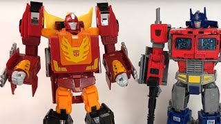 Toy Fair 2018 Power of the Primes Leader Class Rodimus Prime Hot Rod Hasbro Review Transformers