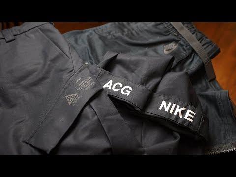 My NikeLab ACG Cargo vs NikeLab Essentials Cargo Review Video :  techwearclothing
