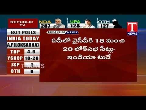Andhra Pradesh Exit Poll Results 2019 by India Today | TNews Telugu