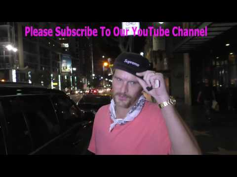 Balthazar Getty talks about Lord Of The Flies outside Katsuya Restaurant in Hollywood