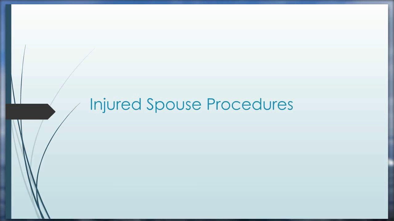 Innocent & Injured Spouse Overview - YouTube