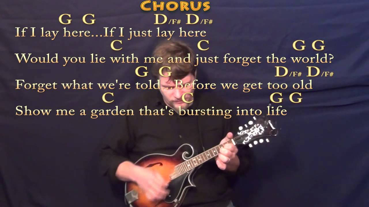 Chasing Cars Snow Patrol Mandolin Cover Lesson In G With Chords