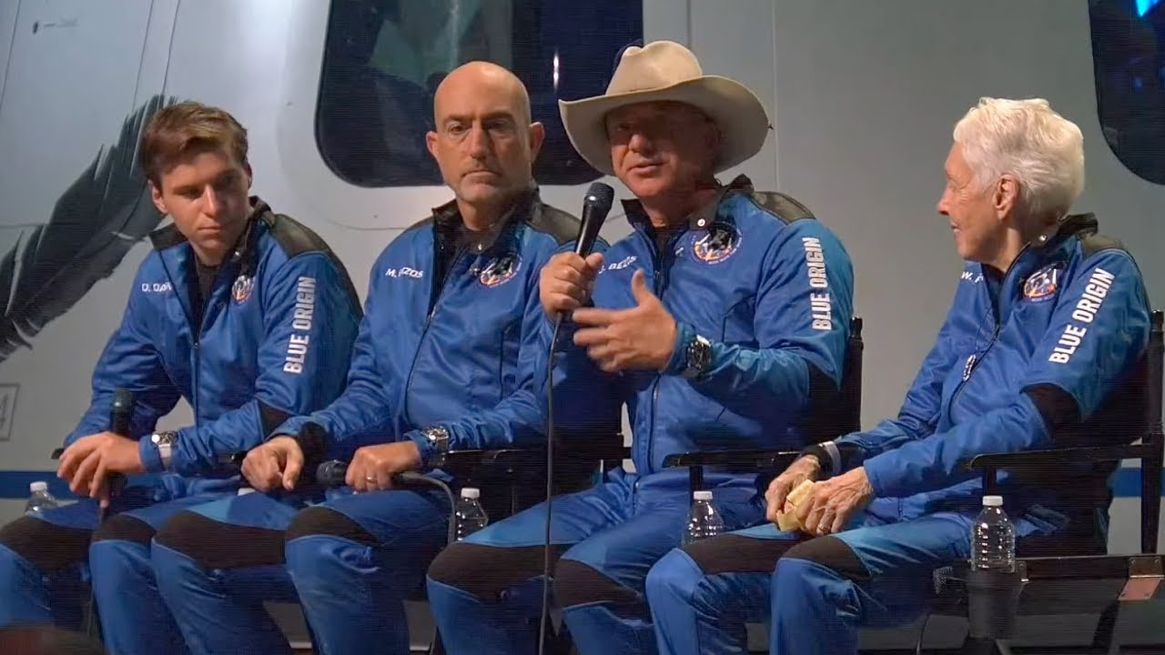 Bezos Brothers thank The Explorers Club for historic artifacts carried aboard New Shepard flight