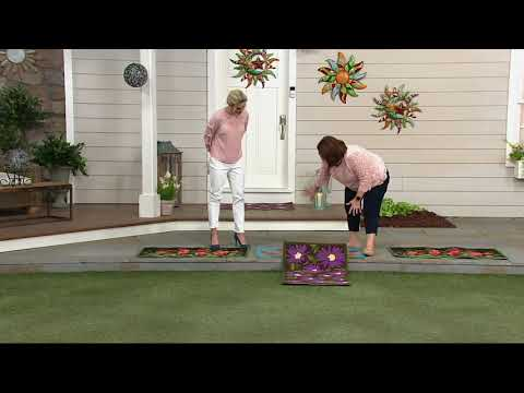 Plow Hearth Indoor Outdoor Washable Throw Rug On Qvc Youtube