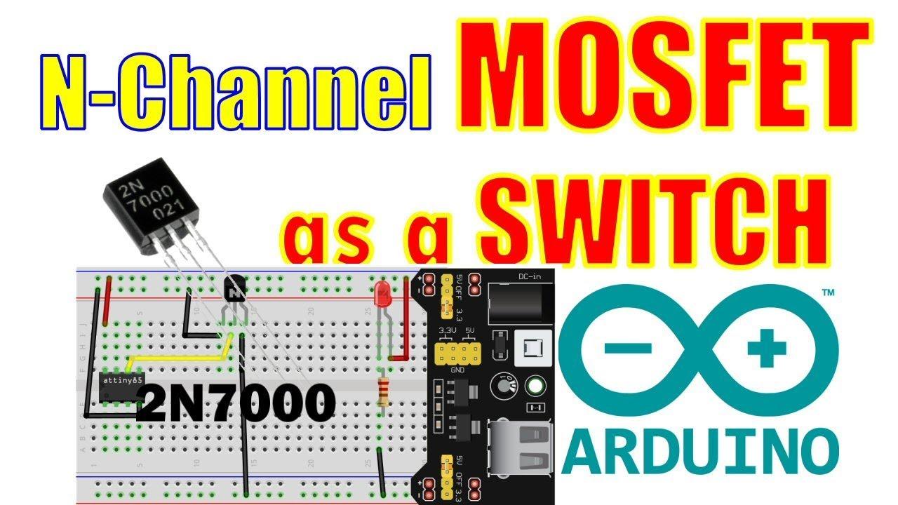 N-channel MOSFET Switch  2N7000 - Arduino Power Saving