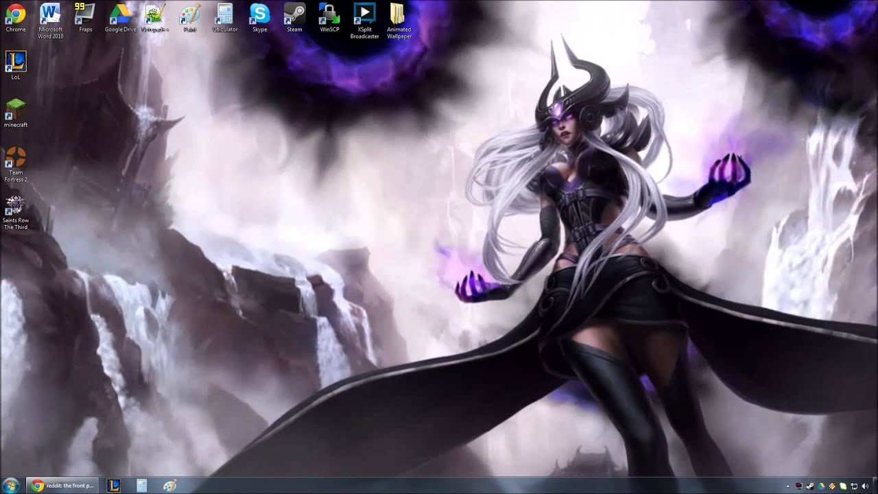 Free Animated Halloween Desktop Wallpaper Syndra Animated Wallpaper Preview Youtube