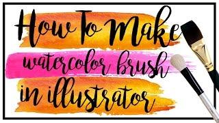 How to make watercolor brush in illustrator