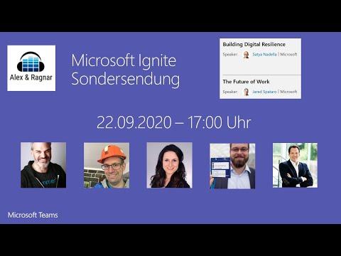 """Alex & Ragnar"" Sondersendung zur Microsoft Ignite Keynote 2020 #MSIgnite"