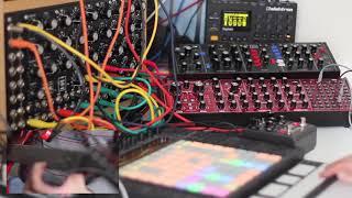 Tangerine Dream Style - MOTM Modular (5U/Moog) Digitakt, Model D/Neutron,El Capistan, Guitar