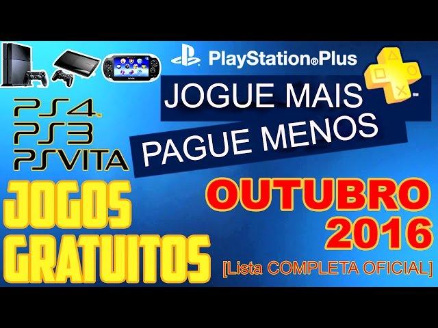 PSN Plus Jogos Grátis Para Outubro de 2016 [ Lista OFICIAL ]