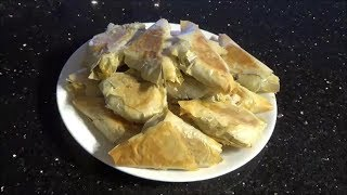 Vegetable Samosas In Phyllo Pastry