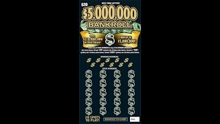 $20 - $5,000,000 BANKROLL! New Ticket from NYS Lottery!  Lottery Scratch Off instant win tickets!