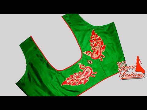 Very Easy Designer Blouse With Piping And  Design Pieces Cutting And Stitching
