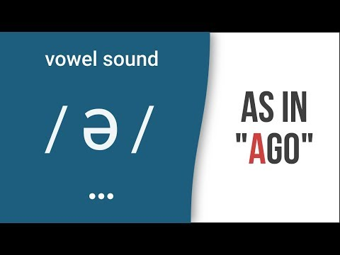 Vowel Sound Schwa As In Ago American English