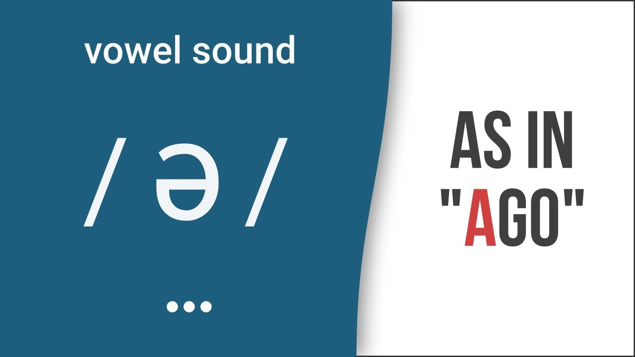 Vowel Sound Schwa As In Ago American English Pronunciation