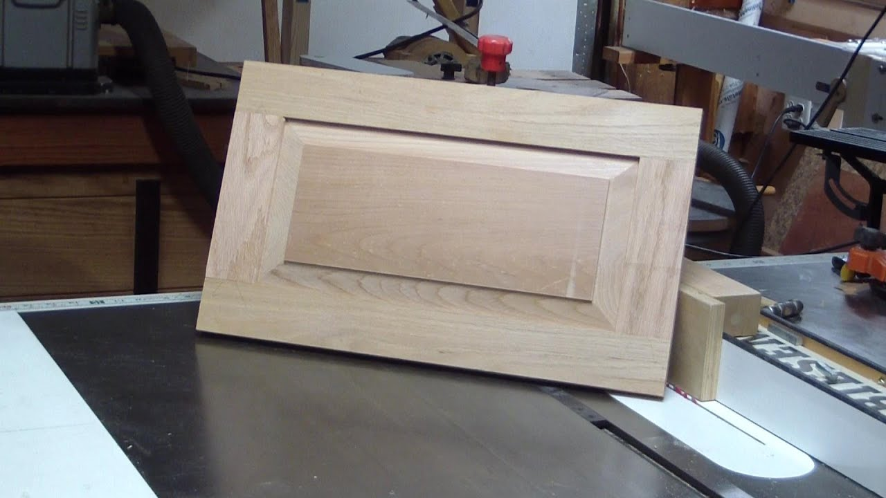 Make a raised panel door with table saw & Make a raised panel door with table saw - YouTube