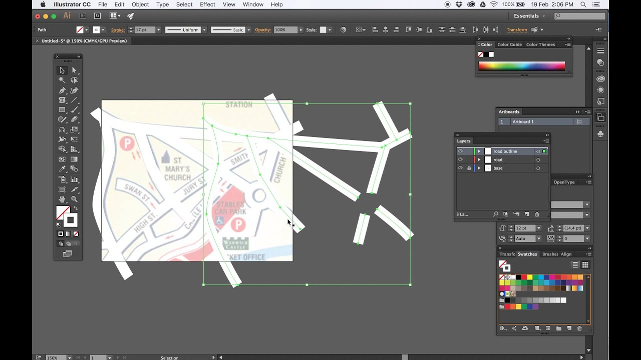 Drawing a simple street map using adobe illustrator youtube drawing a simple street map using adobe illustrator gumiabroncs Image collections