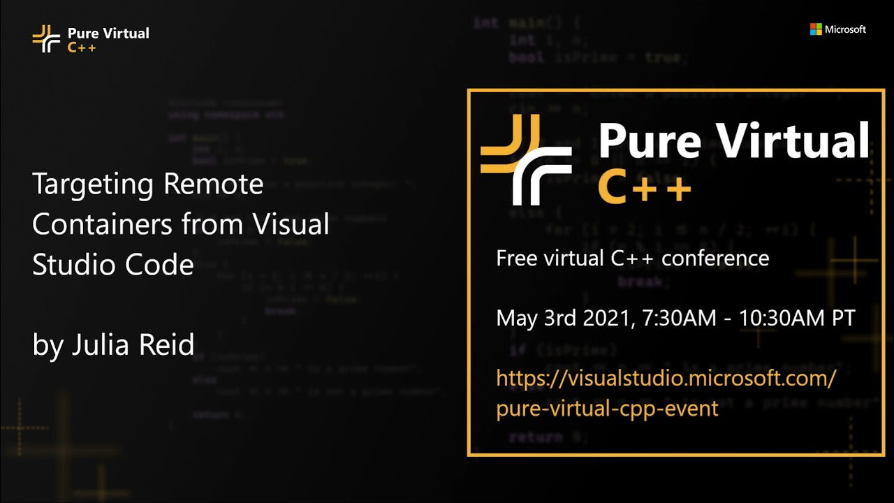 Targeting Remote Containers from Visual Studio Code with Julia Reid