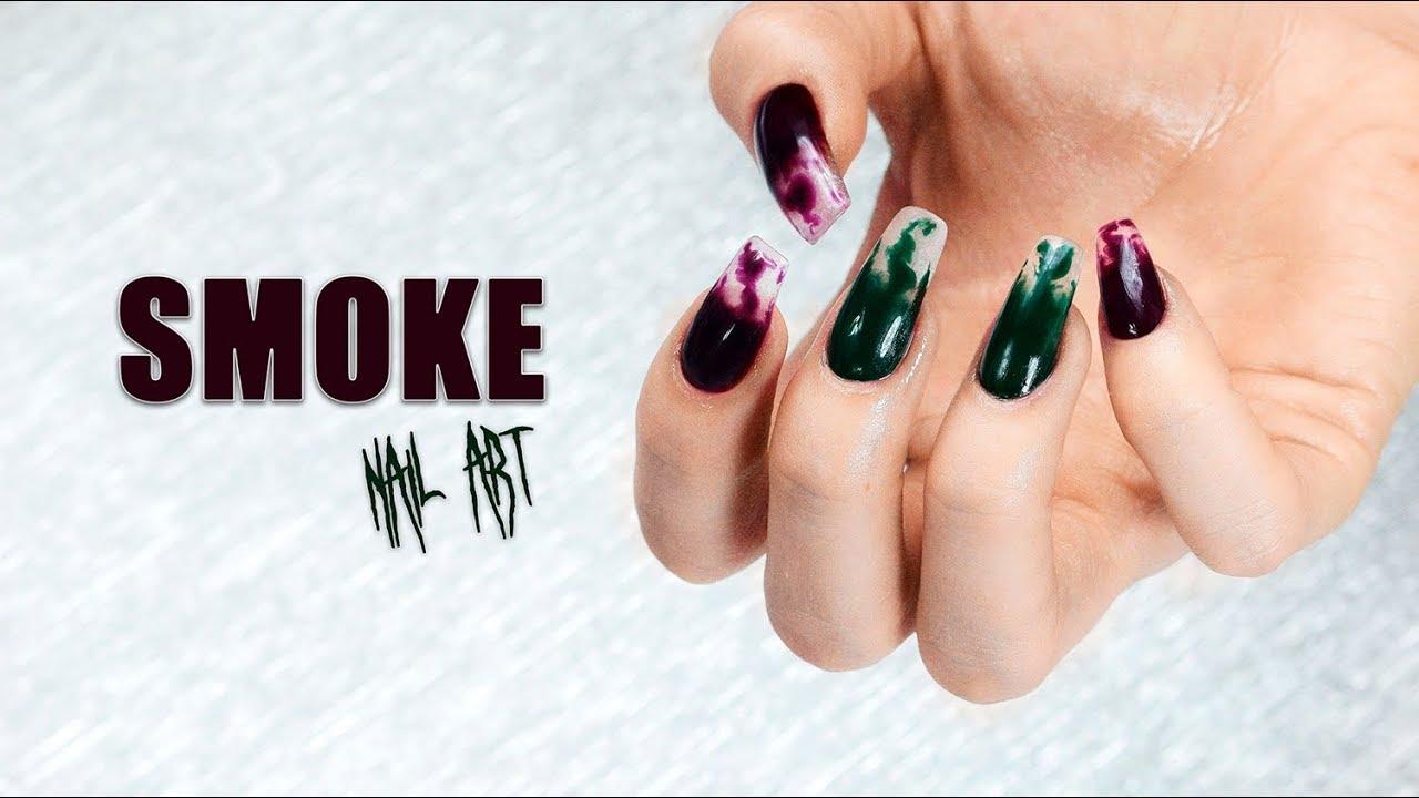 Manicure Hybrydowy: Smoke Nail Art | Provocater | Martyna Molenda