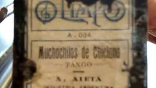 Muchachitas de Chiclana, Tango de A. Aieta en Pianola x Horacio Asborno desde Viedma (RN), Argentina
