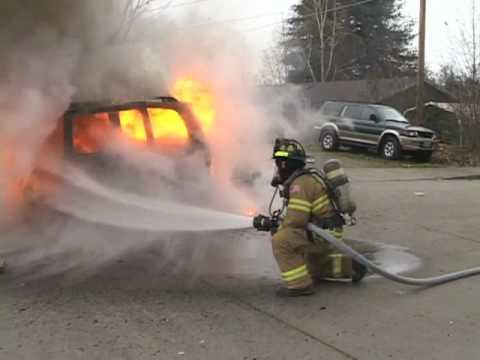 FIRE - Car Fire on Cloverlawn in Grants Pass Oregon 2010