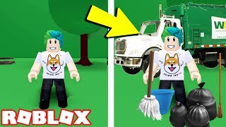 GROW UP INTO A GARBAGE MAN | Roblox Recycling Simulator