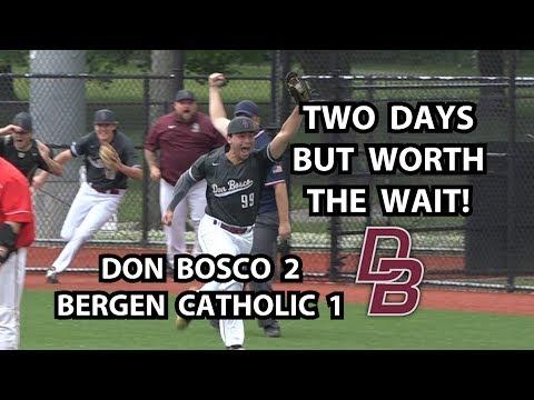 Don Bosco 2 Bergen Catholic 1 Baseball   North Non-Public A Semifinal