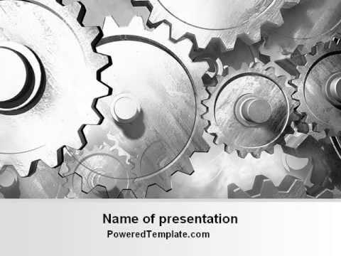 Gray Gear Mechanism Powerpoint Template By Poweredtemplate Youtube