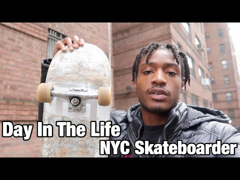 DAY IN THE LIFE OF A NYC SKATEBOARDER!