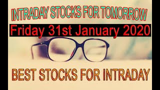Best Intraday Stocks for Tomorrow Friday 31 January 2020 || Share Market Strategy || Day Stock Tips