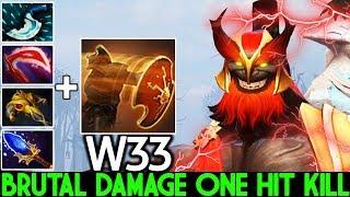 W33 [Mars] Crazy God's Rebuke Damage One Hit Kill 7.23 Dota 2