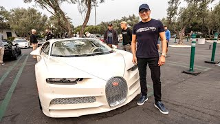 FIRST TIME TAKING THE HERMES BUGATTI CHIRON TO A CAR SHOW! || Manny Khoshbin