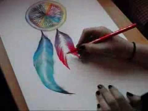 Drawing A Dreamcatcher With Chalk YouTube Awesome Pictures Of Dream Catchers To Draw