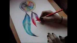 Drawing a Dreamcatcher with Chalk