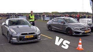 800HP Nissan GT-R Switzer P800 vs CLA45 AMG vs RS6