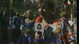 Ponchito (Andrés Bustamente) en el partido Nigeria - Bulgaria de Francia 98