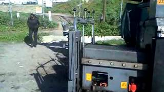 Trabajo de reconstrucción en carretera