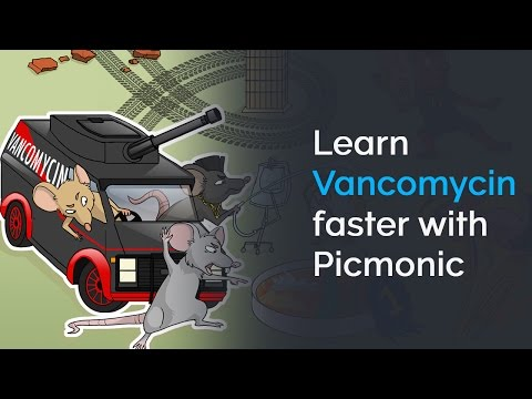Learn Vancomycin Faster with Picmonic (NCLEX®, Nursing School)