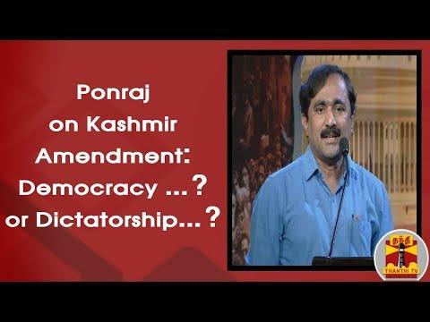 Ponraj on Kashmir