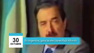 Video: 30 de octubre - Raúl Alfonsín gana las elecciones en Argentina
