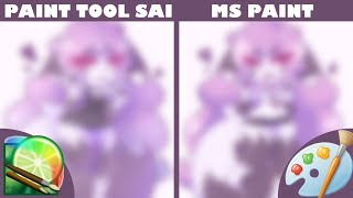 Paint Tool Sai vs MS Paint