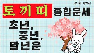 토끼띠의 종합운(도움받는 띠!) 평생사주운세 띠별운 월별운 애정궁합결혼운 직업취업사업운 재물금전대박운