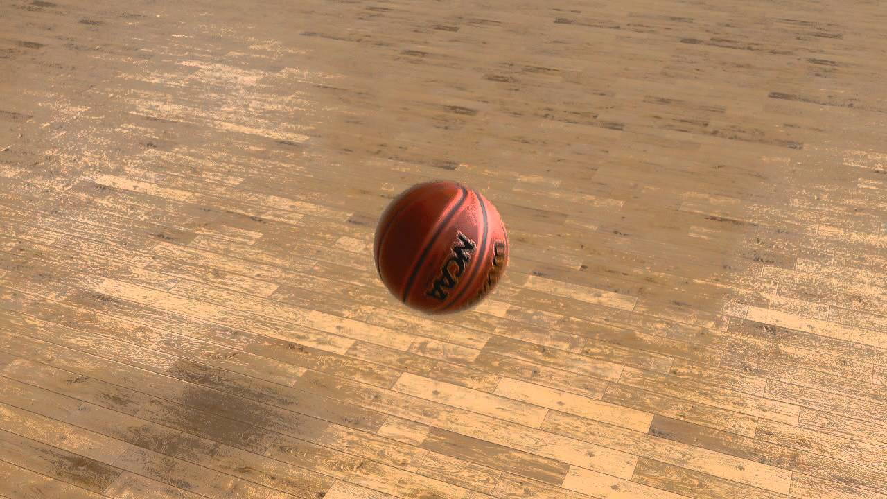 Basketball bouncing animation in blender
