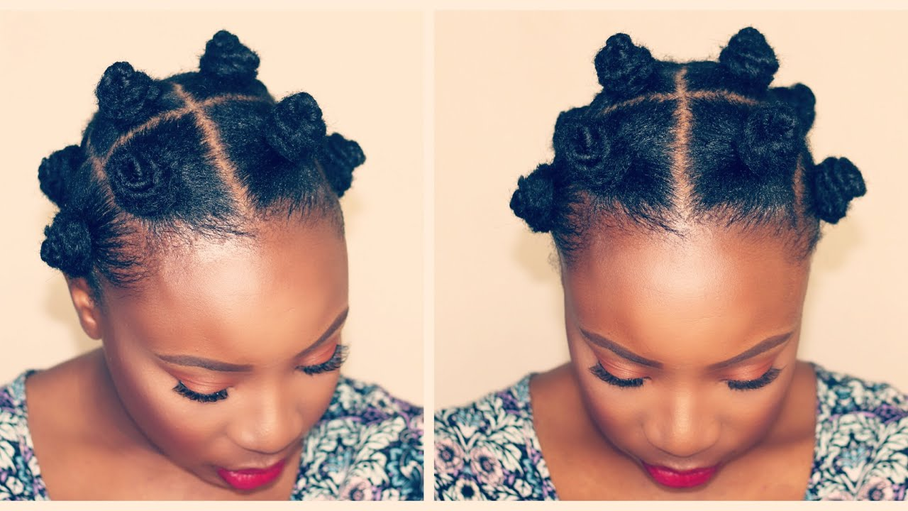 HOW TO BANTU KNOTS SHORT NATURAL HAIR TWA