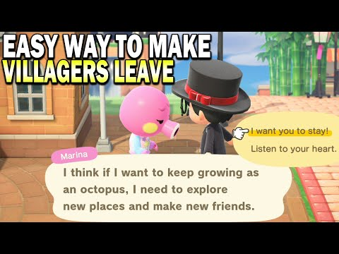 How I Get Villagers To MOVE OUT With A Super Easy Method In Animal Crossing New Horizons