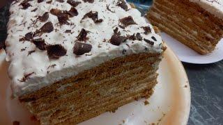"""торт """"КОРОЛЕВСКИЙ МЕДОВИК"""" /τούρτα μέλι/ honey cake"""