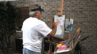 Free Art Lesson - Mike Rooney - Painting Upside Down